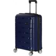 Nasher Miles Santorini PP Hard-Sided Cabin Luggage Bag Navy Blue 21.7 Inch | 55CM Trolley/Travel/Tourist Cabin Luggage - 20 inch(Blue)