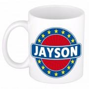 Bellatio Decorations Voornaam Jayson koffie/thee mok of beker