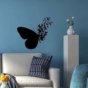 Sticker decorativ de perete Sticky, 260CKY5029, Negru