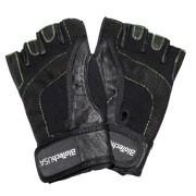 Black leather rukavice (par)