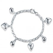Bratara pentru Copii Borealy Argint 925 Triple Heart