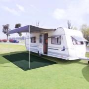 vidaXL Килим за палатка, 250x300 см, HDPE, зелен
