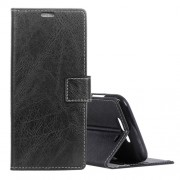 Retro Crazy Horse Texture Horizontal Flip Leather Case for Xiaomi Black Shark with Holder & Card Slots & Photo Frame(Black)