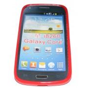 Силиконов гръб ТПУ за Samsung I8260 Galaxy Core Червено