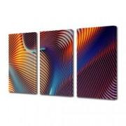 Tablou Canvas Premium Abstract Multicolor In Culori Luminoase Decoratiuni Moderne pentru Casa 3 x 70 x 100 cm