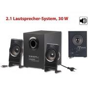 Klangstarkes 2.1-Lautsprecher-System MSX-225 mit Subwoofer, 35 Watt | Pc Lautsprecher