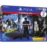 Sony Interactive Entertainment PS4 Slim 1TB + Horizon Zero Dawn + The Last of Us Remastered + Uncharted 4 (PlayStation Hits)