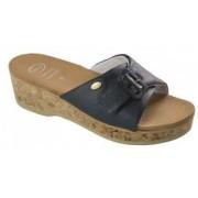 Scholl Wappy Sandalo Donna Con Tecnologia Scholl Memory Cushion Colore Blu Scuro Taglia 36
