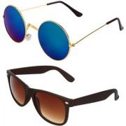 Zyaden Combo of Round And Wayfarer Sunglasses (Combo-133)