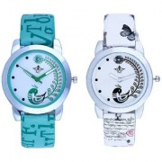 White Peackock With Lite Green Peackock Fether Art Design Exclusive SCK Wrist Watch For Women Girl