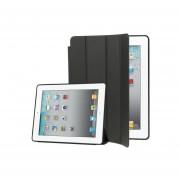 Alta Calidad 4 - Plegable Funda De Ecocuero Delgada De La Cubierta Elegante Para El IPad 4 Nuevo IPad (iPad 3 ) IPad 2 ( Negro )
