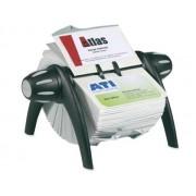 SUPORT PT. 400 CARTI DE VIZITA DURABLE VISIFIX FLIP, negru