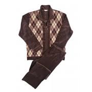 Hom Мягкий мужской домашний комплект из превосходного велюра коричневого цвета HOM Funky 04262cS9