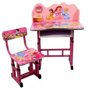 Kajal Toys™ Kids Table Chair with Barbie 3 D Character