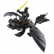 Figurina Dragons - Toothless si viking - How to train your dragon