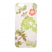 【SALE 50%OFF】【kahiko】iPhone6/6sケース HAWAIIAN ホワイト×グリーン レディース