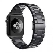 Simpeak Correa Compatible para Apple Watch 38mm 40mm Series 6 SE 5 4 3 2 1, Correa de Acero Inoxidable Reemplazo de Banda Compatible con iWatch 38 40- Negro