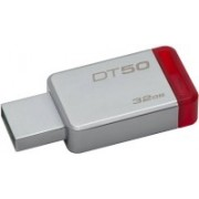 Kingston DT50 DataTraveler 50 - 32GB Pendrive - USB 3.1/3.0/2.0 32 GB Pen Drive(Silver, Red)