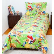 Lenjerie pat copii 1 persoana-Alba ca Zapada