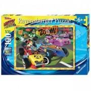 Детски пъзел - Мики Маус на състезание - 100 елемента, Ravensburger, 7010974