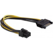 Kabel SATA power 15-pin M - 1x 6pin PCIe Delock 82924