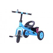 Planet of Toys Metal Frame Tricycle With Removable Storage Bag (Blue) For Kids, Children
