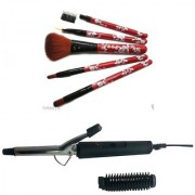 Combo Brush set with Curler for hair