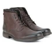 Clarks Ashburn Top Dark Brown Lea Boots For Men(Brown)