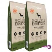 vidaXL Premium suha hrana za pse Maxi Adult Essence Beef & Chicken 2 kom 30 kg