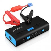 Vic Top 500A Peak 1300mAh Portable Car Jump Starter Battery Booster And Phone Power Bank With Ultra Bright LED Flashlight