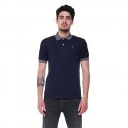 Refrigiwear Polo Polo a maniche corte con dettagli a contrasto blu navy