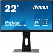 """IIYAMA 22"""" iiyama XUB2292HS-B1: IPS, FullHD@75, 250cd/m2, 4ms, VGA, HDMI, DP,"""