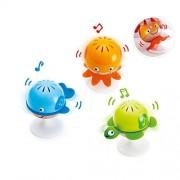 Hape Stay-Put Baby Animal Toy Rattles, Multi