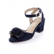 Alba Moda Sandalette aus weichem Ziegenveloursleder, blau