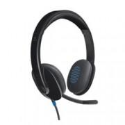 Слушалки Logitech H540, USB, черни