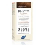 Ales Groupe Italia Spa Phyto Phytocolor 7,43 Colorazione Capelli Biondo Ramato Dorato Latte + Crema + Maschera