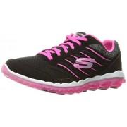 Skechers Sport Women s Skech Air 2.0 City Love Fashion Sneaker Black/Hot Pink 9 B(M) US
