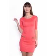 Dámské korálové šaty 8449