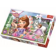 Puzzle clasic pentru copii - Printesa Sofia la Castel - 100 piese