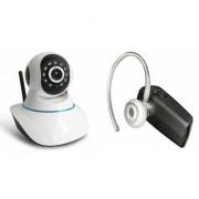 Zemini Wifi CCTV Camera and HM 1100 Bluetooth Headset for SAMSUNG GALAXY E 7(Wifi CCTV Camera with night vision |HM 1100 Bluetooth Headset With Mic )