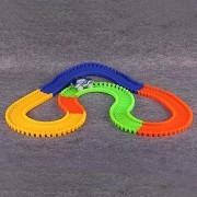 MSE Glowing Mini Race Luminous Racing Flexible Hot Wheel Slot Cars Racing Track Toys For Boys Truck
