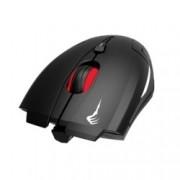 Мишка Gamdias DEMETER E1, оптична (3200 dpi), черна, USB, RGB подсветка, гейминг, с подложка NYX E1