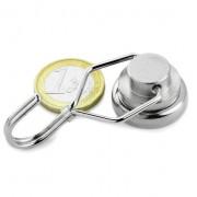 Magnet neodim oala carlig rotativ, diametru 25 mm, putere 20 kg
