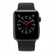 Apple Watch Series 3 carcasa de aluminiogris 42mm con con correa deportiva negro
