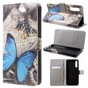 Style Series Huawei P20 Pro Wallet Case - Blauw Vlinder