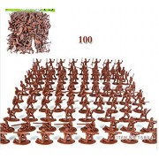 100pcs small toy soldier sand table model of the plastic toy soldiers, the best gift children boys, 12 styles,brown