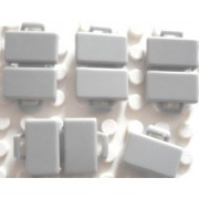 LEGO Town City - OLD Light Gray Minifig Accessory Briefcase - x5 Loose