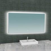 Douche Concurrent Badkamerspiegel Wiesbaden Soulspiegel Rechthoek 140x80cm Geintegreerde LED Verlichting Verwarming Anti Condens Lichtschakelaar Dimbaar