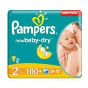 Pampers New Baby Giant Pack nr 2 , 100 bucati