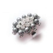 Inel perle si cristal 10053